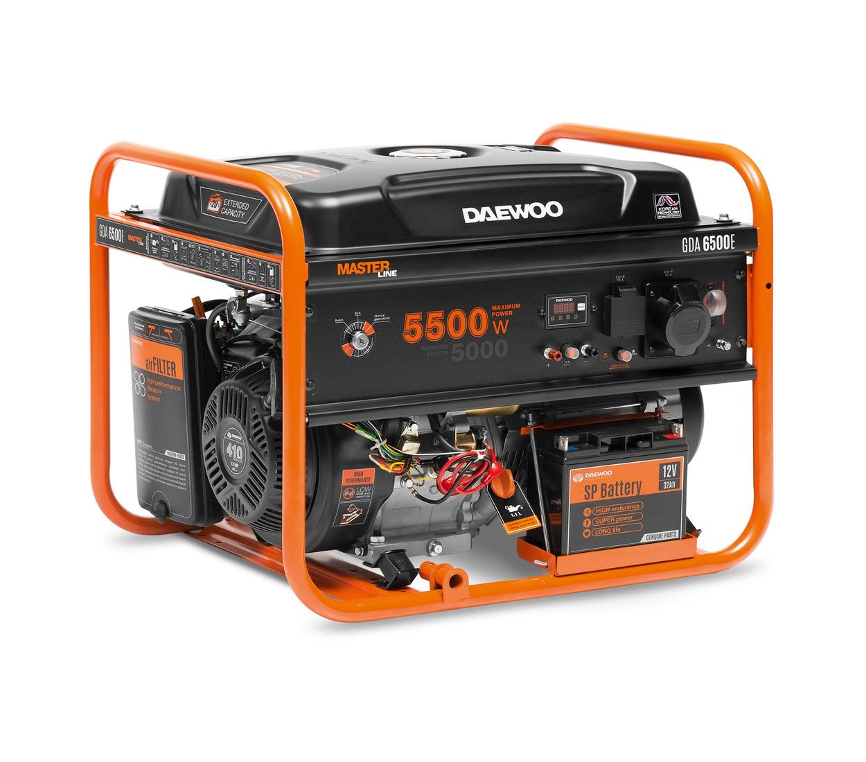 Бензиновый генератор (Бензогенератор) DAEWOO GDA 6500E