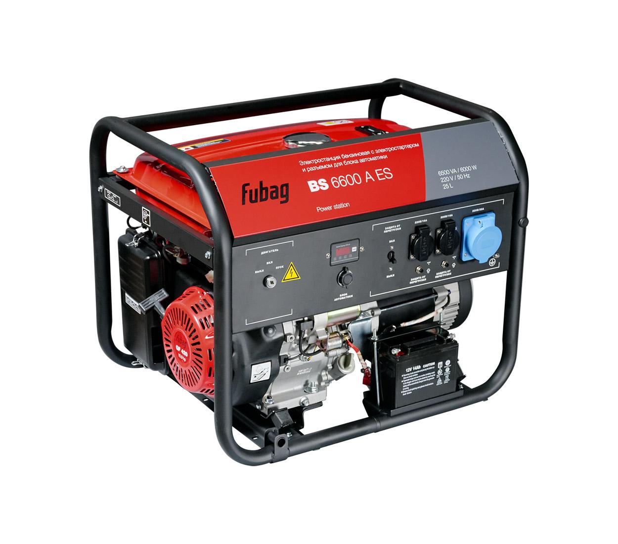 Бензиновый генератор (Бензогенератор) FUBAG BS 6600 A ES