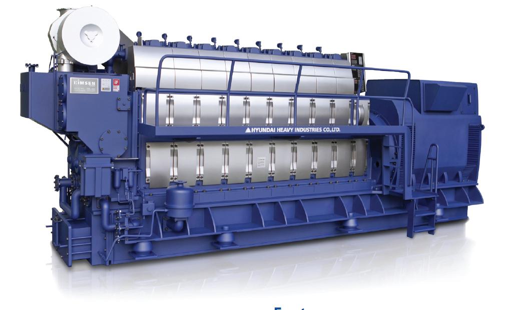 Дизельный генератор (электростанция) Hyundai HiMSEN 6H32/40