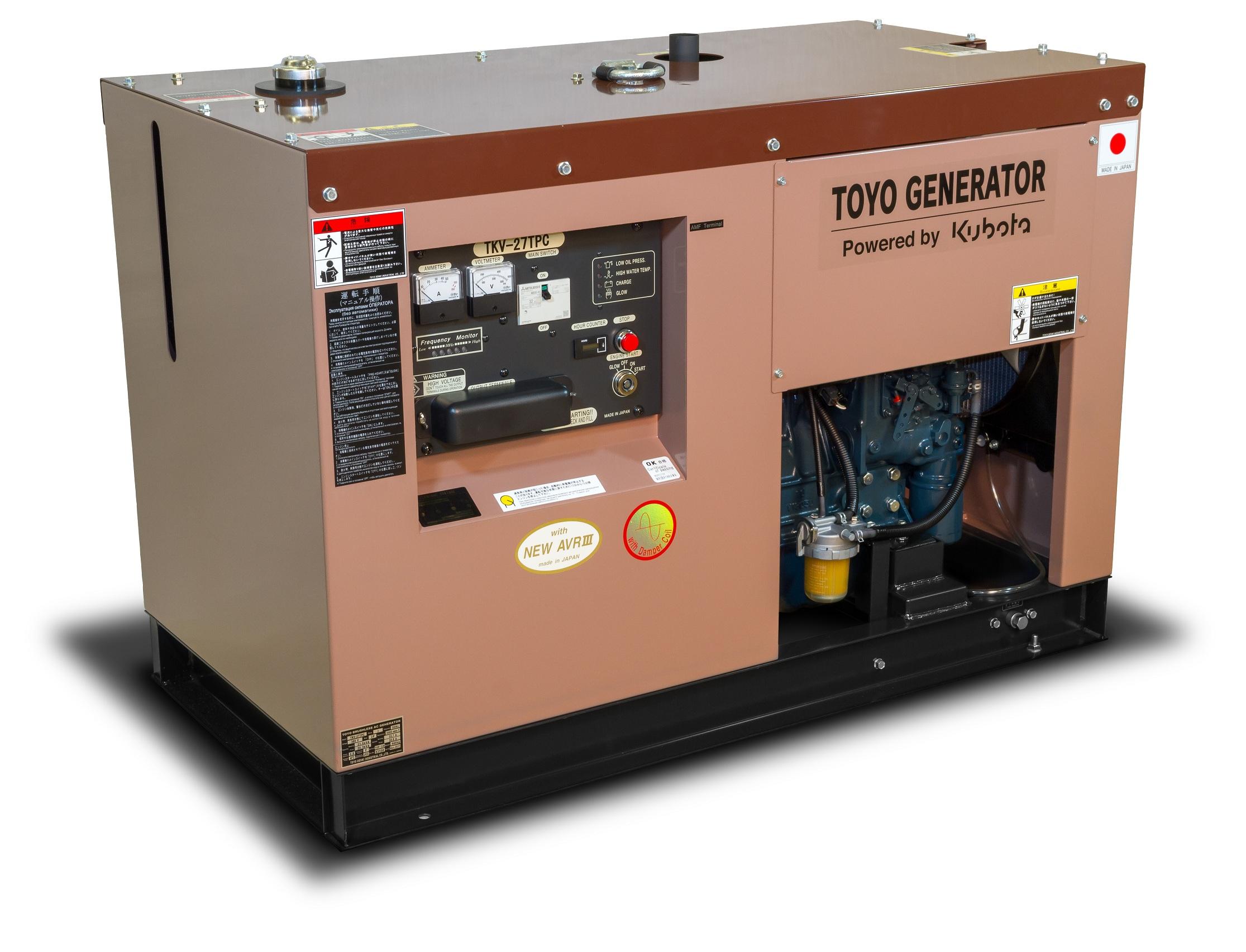 Дизельный генератор (электростанция) TOYO TKV-27TPC